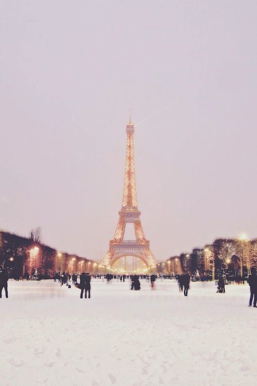 I am obsessed with Paris in the winter