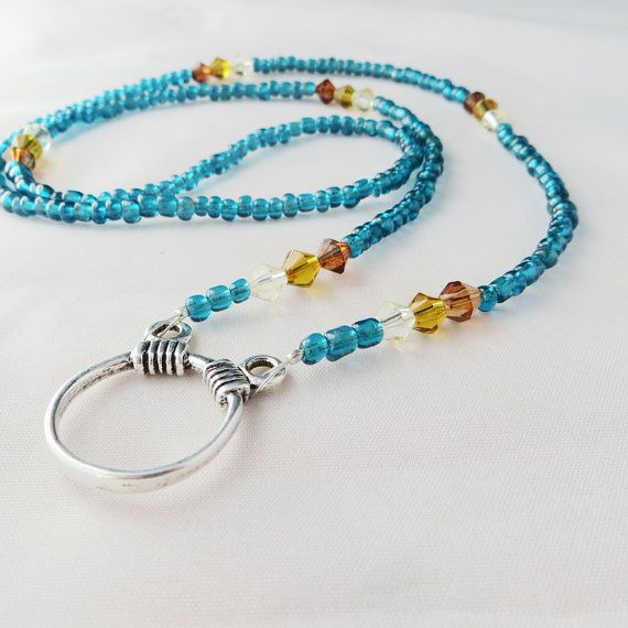 Beaded Eyeglass Holder Eyeglass Necklace Eyeglass Chain by biddieK, $20.00....i bought this...THUMBS UP