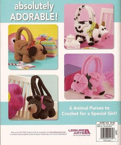 crochet animal bag
