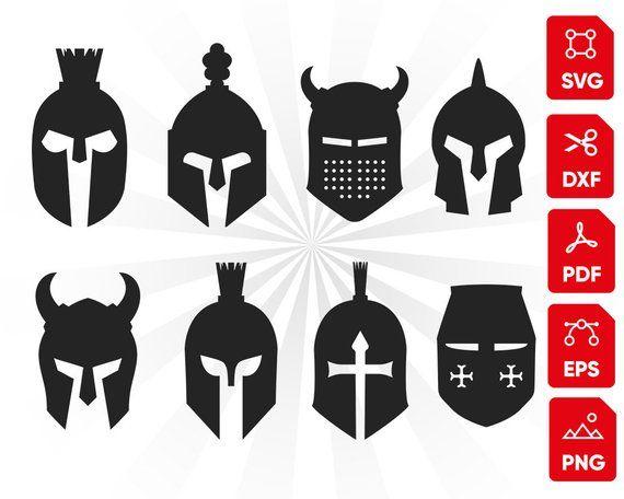 Knighn Helmet Svg Bundle Mask Svg Helmet Svg Shield Svg Fight