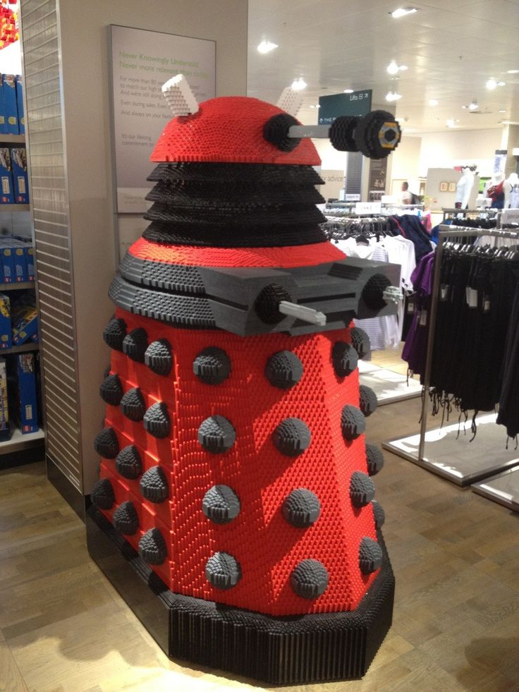 This dalek is particularly evil. It leaves bricks scattered around your living room floor.