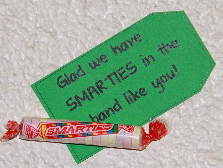 Marching Orangemen: Band Camp Treats. Glad we have Smarties in the band like you!