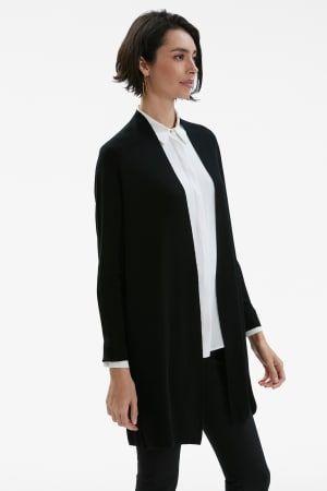7ee7d61e3a9f42 The Ono Cardigan in 2019 | work it | Black cardigan, Wool sweaters ...