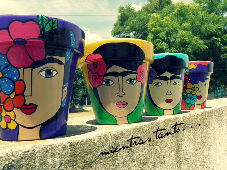 Macetas Frida by Yesica Sequeira (mientras tanto...)
