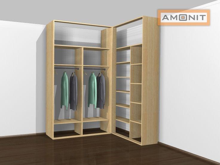 Ukázka vnitřního uspořádání vestavěné skříně - 23. varianta