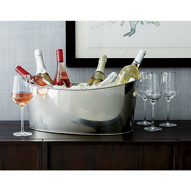 Oval Party Beverage Tub | Crate and Barrel