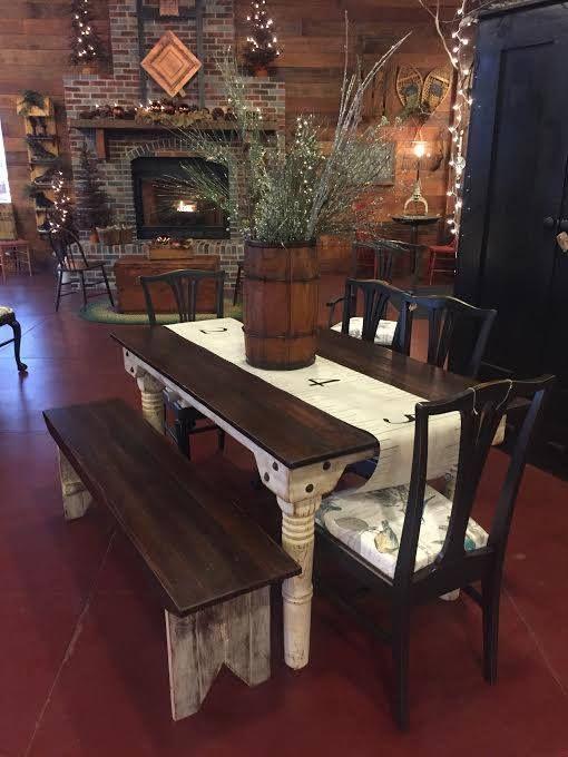 primitive touch antique warehouse - Primitive Kitchen Tables