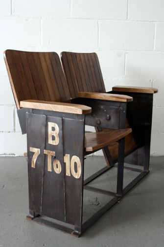 Two Seat Theatre Bench.