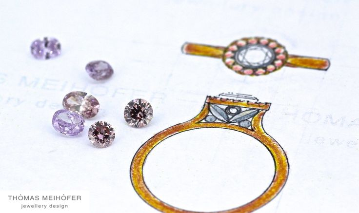 """""""Pink inspiration"""" It never fails to amaze us, how pink diamonds can have so many different hues… With the Argyle mine gradually coming to the end of it's lifespan, these little beauties are only going to become rarer… Maybe it's time to get your own little piece of history?"""