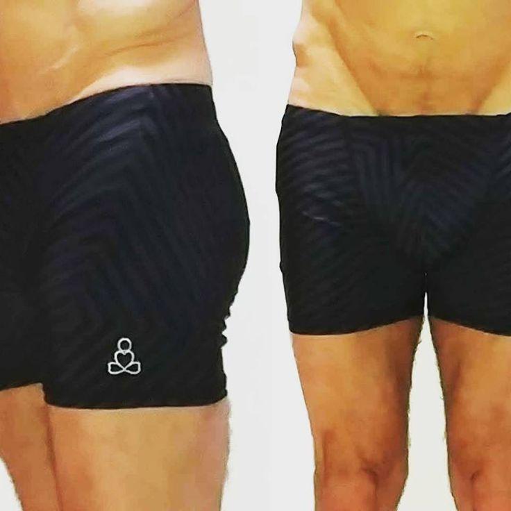 #men #hot #yoga #shorts #padmasana #style #blackonblack #toneontone #monotone  https://sweat-n-stretch.com/…/mens-yoga-shorts-tone-on-ton…/