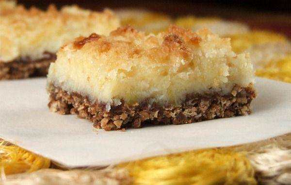 Cream Cheese Lemon Bars with Kit Kat Bars