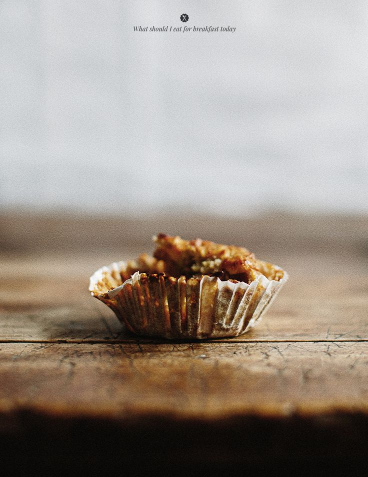 // buckwheat muffins with apple, banana + avocado