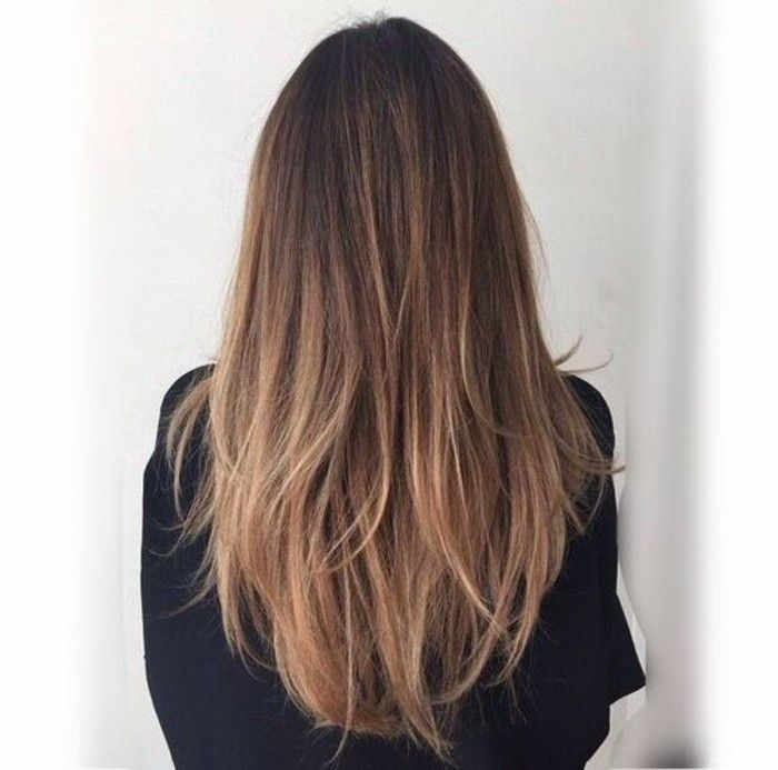 Cheveux chatain degrade blond
