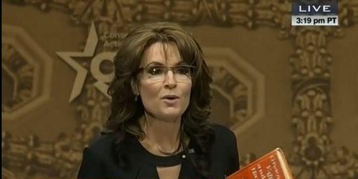 Sarah Palin's CPAC Speech Might As Well Be The Next Dr. Seuss Book What an idiot! http://www.huffingtonpost.com/2014/03/08/sarah-palin-cpac-speech_n_4899460.html?ncid=fcbklnkushpmg00000013