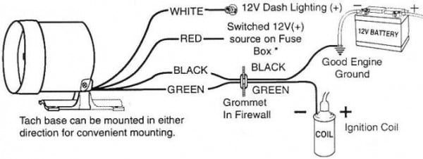 Sunpro Tachometer Wiring | Diagram | Wire, Ignition coil