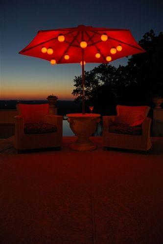 12 globe led color changing umbrella light string backyard patio yards landscape