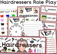 Hairdressers Role Play Resources Role Play Resources. There are many great Hairdressers themed role play resources available to download, such as Hairdressers Hair Colour Chart, Appointment Worksheet, Hairdressers Price List,  themed borders and much more. For more of these resources please check out our site.