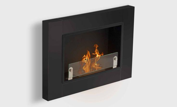 Angel est une cheminée éthanol murale 2 brûleurs au slignes design, dispo en 3 coloris.