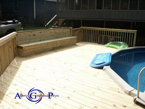 1000 images about pool decks on pinterest backyards for Above ground pool storage ideas