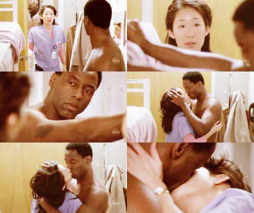 grey's anatomy Cristina and Burk | ... burke #Isaiah Washington #grey's anatomy #Grey's Anatomy season 1
