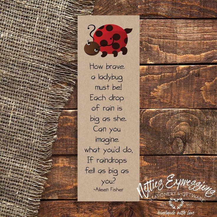 How brave a ladybug - Bookmark