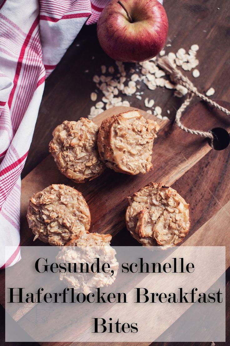 Gesunde, schnelle Frühstücks Idee mit Haferflocken Breakfast Bites