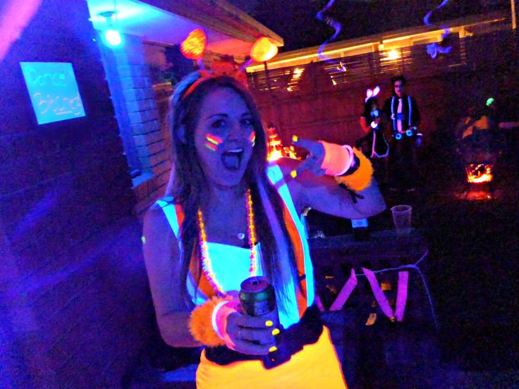 She had so much fun! | Black Light Party | Cosmic Events
