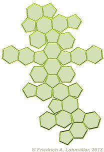 Geometria di Base - per Raytracing con POV-Ray - Sviluppo dell'Icosaedro troncato