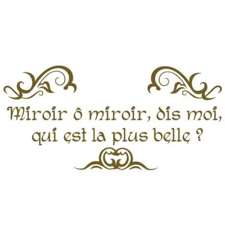 Les 25 meilleures id es de la cat gorie stickers miroir for Miroir mon beau miroir dis moi