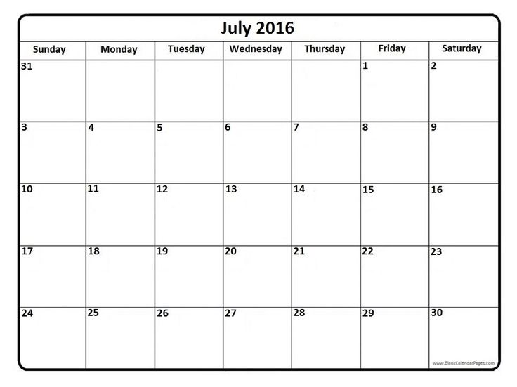 The  Best July  Calendar Template Ideas On