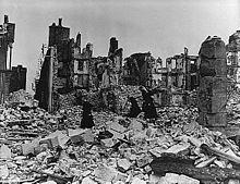 Ruines de Coutances - Manche - Bataille de Normandie 1944
