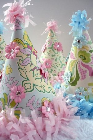 Shabby chic party hats!