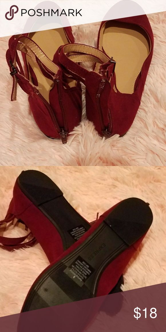Shoes Express flats with ankle straps never worn. Express Shoes Flats & Loafers