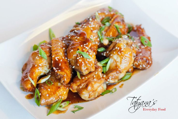 Teriyaki Party Wings with Ginger and Garlic - Tatyanas Everyday Food