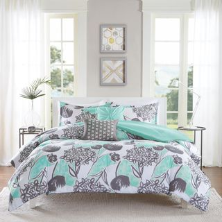 Intelligent Design Kennedy Aqua/ Grey Comforter Set - 18412661 - Overstock.com Shopping - The Best Prices on ID-Intelligent Designs Teen Comforter Sets