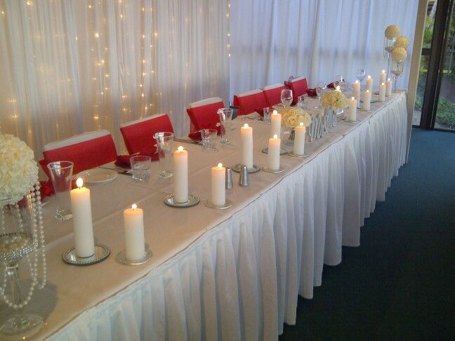 Red and silver wedding styling by Fashionable Society Events