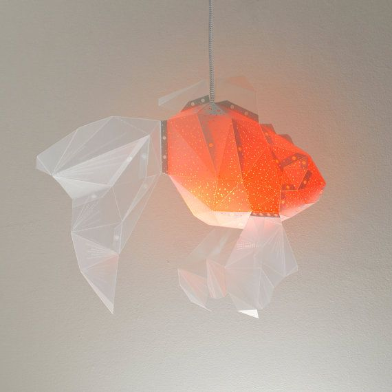 Goldfish Color-Changing Lampshade Pendant Light от VasiliLights