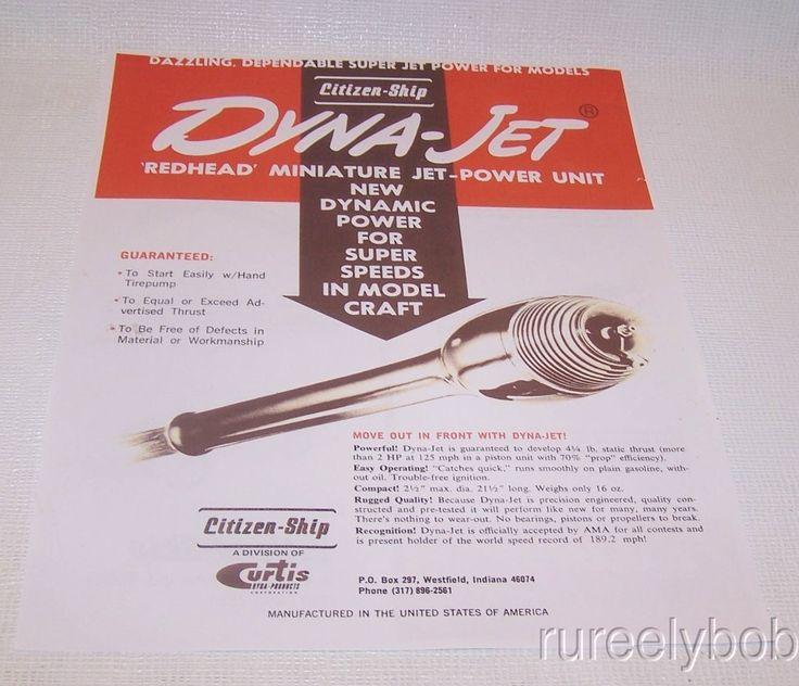 New In Box Vintage Dyna-Jet Pulse Jet Model Airplane Engine