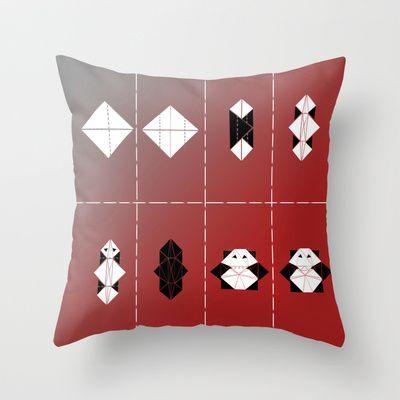 PANDA  Throw Pillow by ARCHIGRAF - $20.00
