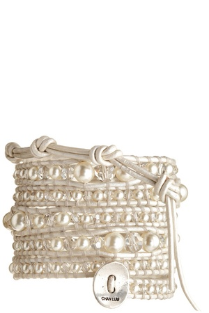 A cream wrap bracelet is such a versatile accessory. Pair it with jeans and a tank for day or a LBD for a night out.