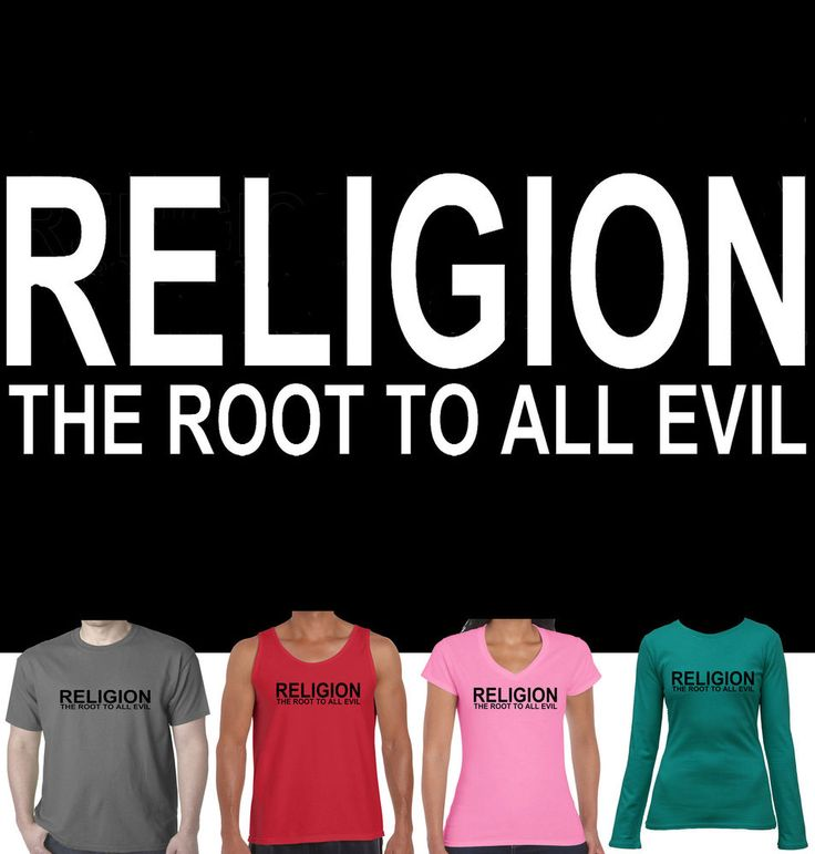 Religion The root to all Evil Atheist new Singlet Ladies Men's Size funny top