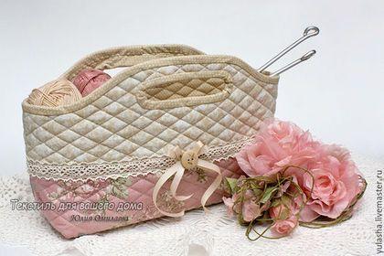Текстильная сумочка корзинка для хранения рукоделия. Сумочка для мелочей. Подарок рукодельнице на день рождения. Подарок на любой случай маме жене подруге на день учителя.