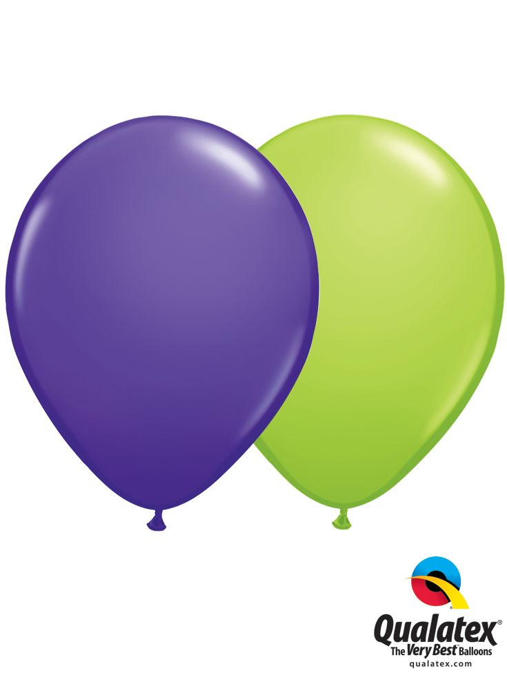 Qualatex Color Trend: Purple Violet and Lime Green make a great pair for a  Teenage Mutant Ninja Turtles party!