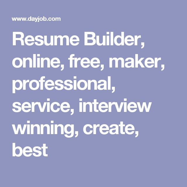 Best 25+ Free online resume builder ideas on Pinterest Online - build your resume online free