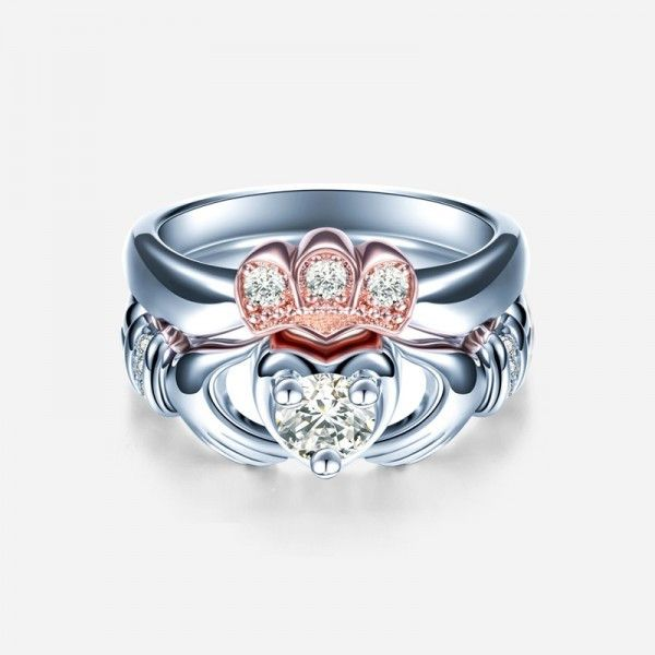 romantic cz inlaid claddagh 925 sterling silver two pieces ring set https://www.evermarker.com/collections/evermarker-design?pid=romantic-cz-inlaid-claddagh-925-sterling-silver-two-pieces-ring-set&utm_source=Pinterest_Ads&utm_medium=Traffic&utm_campaign=romantic-cz-inlaid-claddagh-925-sterling-silver-two-pieces-ring-set