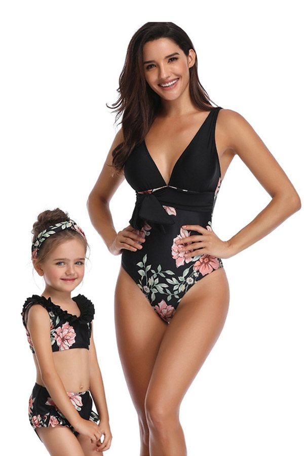 Matching Bathing Suits For Mother And Daughter With Free Shipping Kids Swimwear Family Matching Swimwear Matching Swimwear