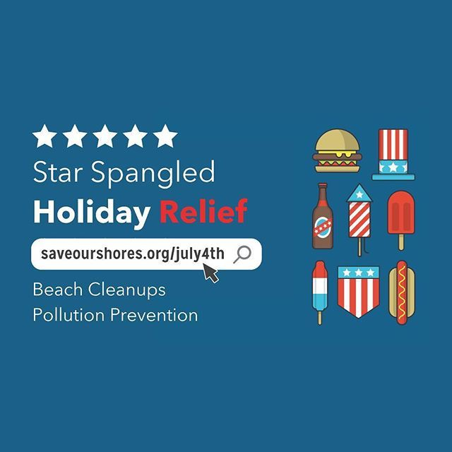 Pollution prevention is patriotic 🇺🇸. Help us keep trash from flowing to the #Ocean 🌊 this #July4th by #volunteering at a #SaveOurShores Holiday Relief event! Will you help the #MontereyBay on #IndependenceDay & the morning after for a community #BeachCleanup at 12 heavily visited beaches? Last year, 252 #volunteers removed 2,489lbs of #trash from 11 #beaches & handed out 1,942 trash bags. ••• Details on our online Calendar or visit saveourshores.org/july4th 👍 #montereybaylocals - posted…