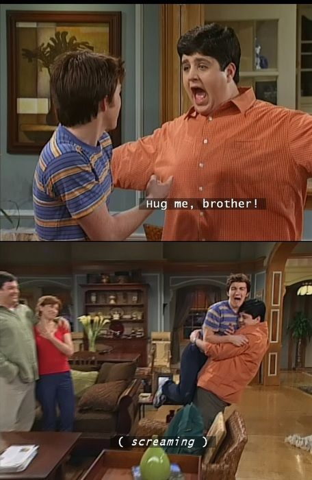 Drake and Josh -My reaction to my sister's hug...and my parents' reaction-no sympathy.