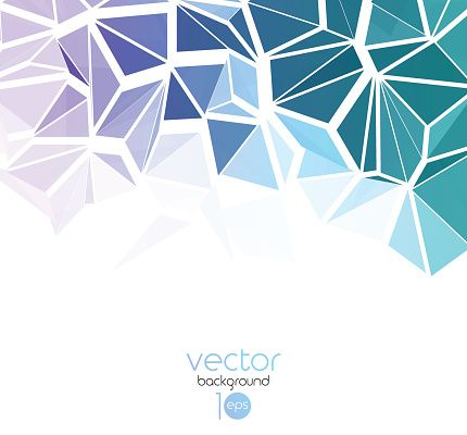 Vector Art : Vector abstract geometric background with triangle