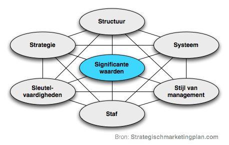 7S model van McKinsey organisatiescan van uw onderneming | Strategischmarketingplan.com